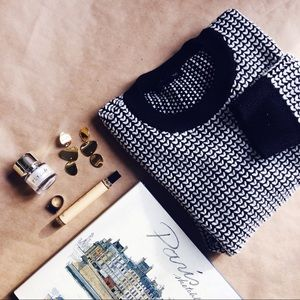 Banana Republic Black & White Sweater